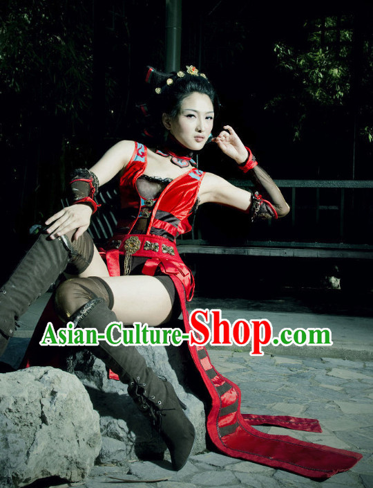 Asian Sexy Japanese Swordswomen Anime Costumes