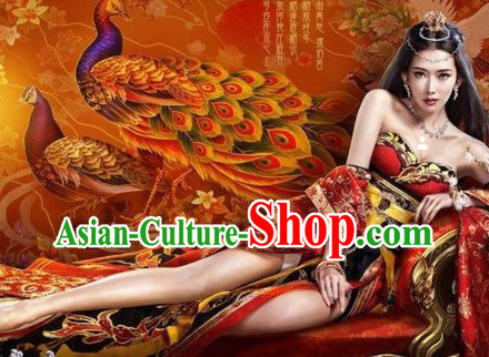 Asian Sexy Queen Carnival Costumes and Hair Accessories