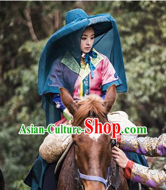 Chinese Traditional Princess Costume and Hat