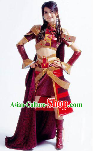 Traditional Warrior Armor Cosplay Costumes for Women