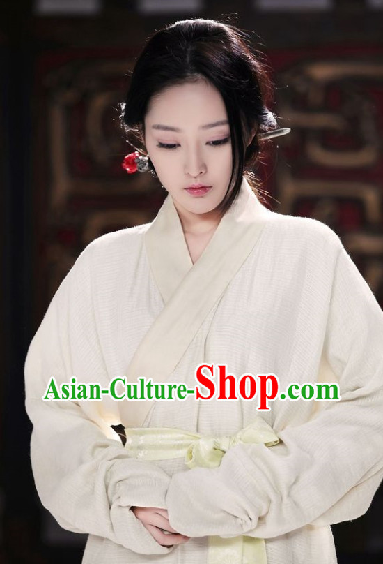 Chinese Classical Hanfu Suit and Belt for Women