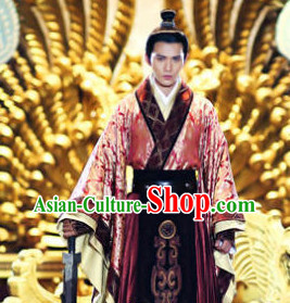 Chinese Traditional King Clothes and Hat for Men