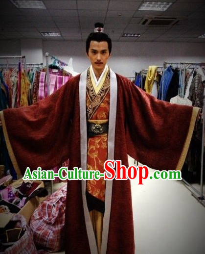 Chinese Traditional Nobles Clothes and Hat for Men