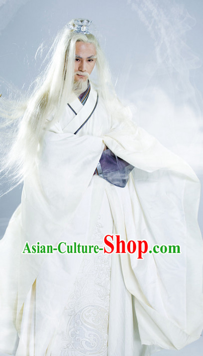 China White Hanfu Clothes