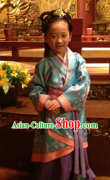 Chinese Traditional Hanfu Dress for Girls