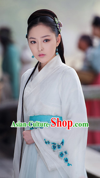 White Hanfu Dress for Women