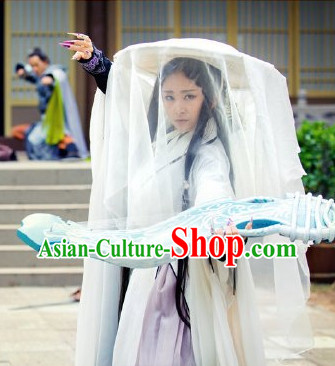 China Traditional  Cool Women Costumes and Headwear