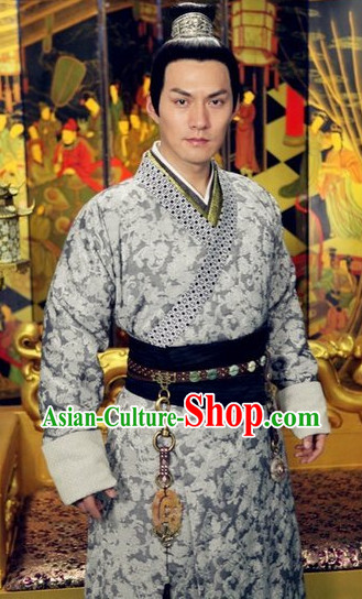 Ancient China King Dress and Hat for Men