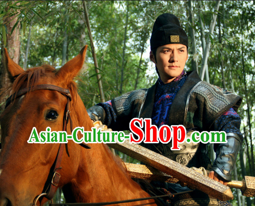 China Traditional  Hero Costumes Carnival Clothing and Hat for Men