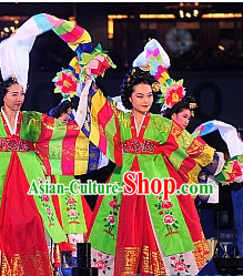 Korean Traditional Long Sleeves Dance Costumes for Women