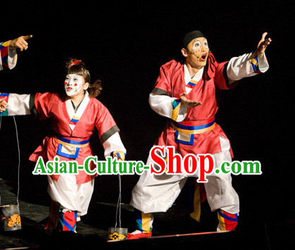 Korean Ancient Stage Performance Clown Dance Costumes