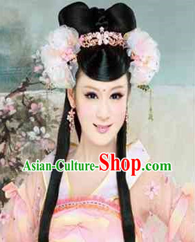 Chinese Empress Black Wig and Hair Accessories