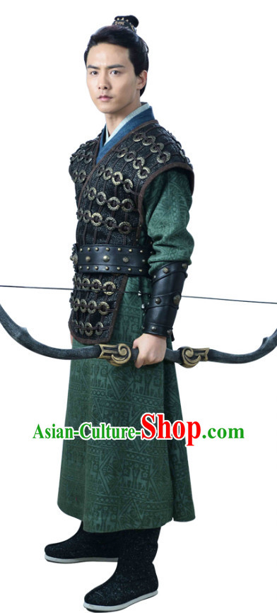 Chinese Archer TV Play Costumes and Coronet