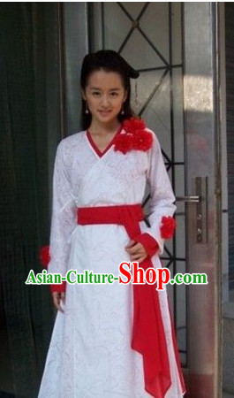 Chinese Swordwoman Costume and Hat