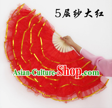 Five Layers Chinese Hand Fans for Sale