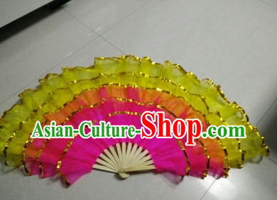 Five Layers Stage Dance Folding Fans