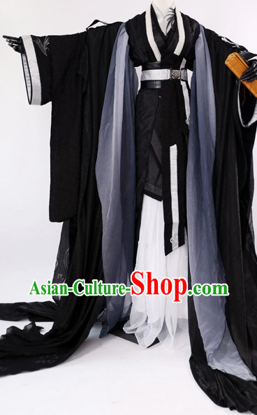 Ancient China Clothing Black Cosplay Costumes