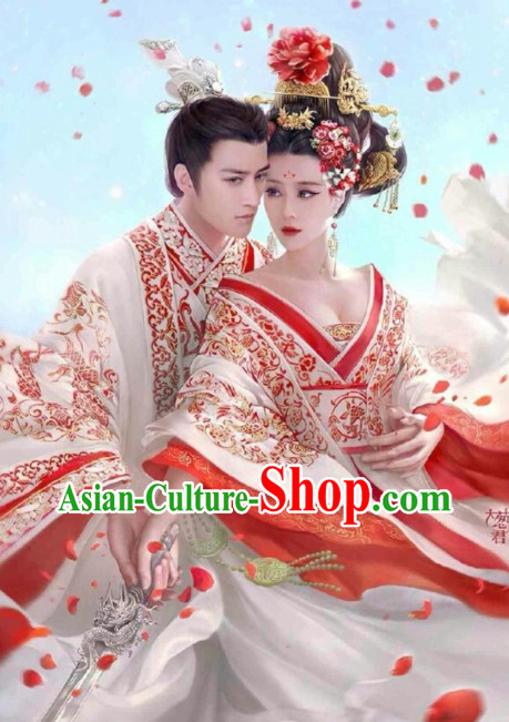 Traditional Chinese Wedding Wear Complete Sets for Men and Women