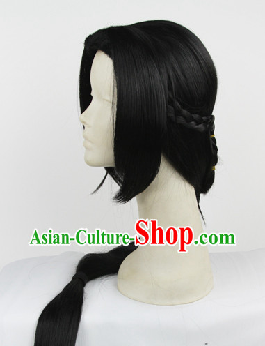 Traditioal Chinese Long Black Dess up Wigs