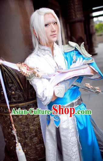 Chinese Traditional Cosplay Fighter Costumes for Men