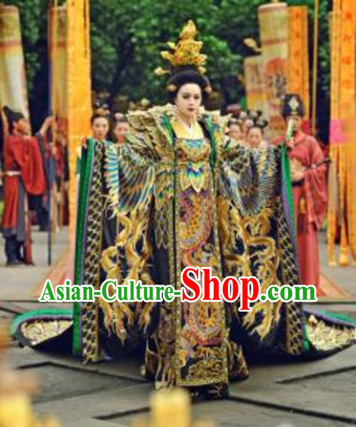 Ancient Chinese Wu Zetian Emperor Costumes Complete Set