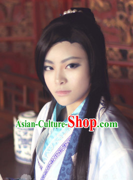 Traditioal Chinese Cheap Black Wigs