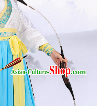 Chinese Traditional Black Archer Hanfu Uniform for Women