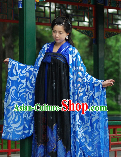 Chinese Tang Dynasty Robe and Skirt for Women