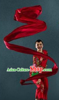 Pure Silk China Red Professional Dance Ribbon