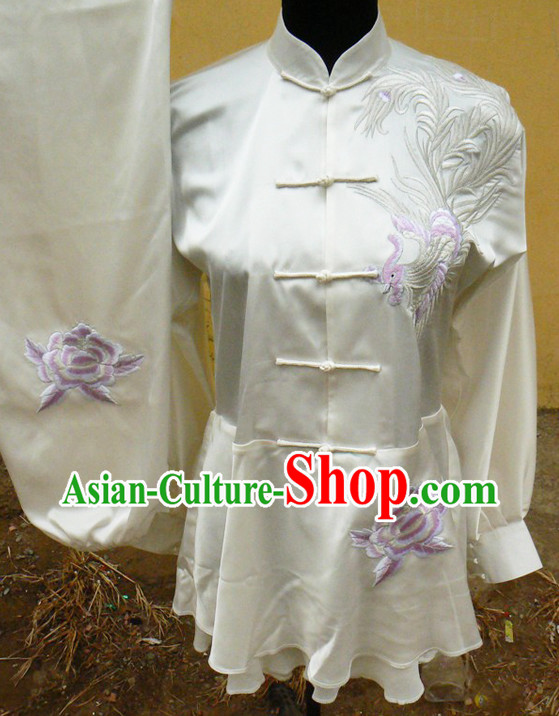 Dragon Embroidery Wing Chun Quan Uniform Complete Set for Adults or Kids