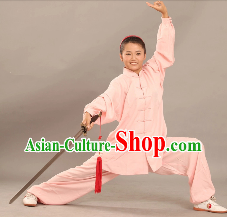 Summer Wear Tencel Kung Fu Uniforms Complete Set for Adults or Kids