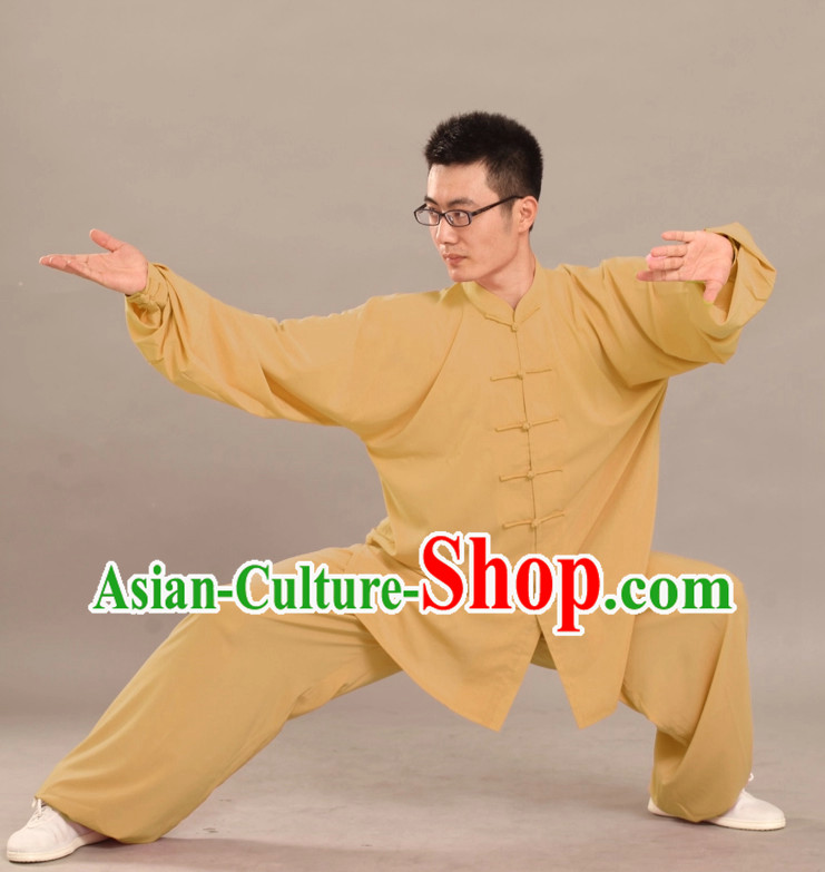 Supreme Long Sleeves Flax Martial Arts Practice Suit