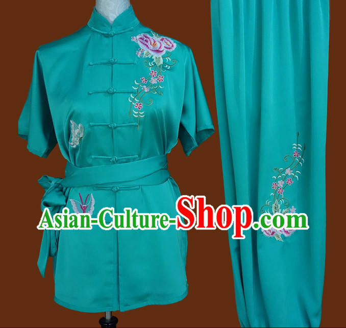 Top China Traditional Wing Chun Kung Fu Wooden Dummy Practice Uniforms