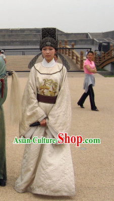 Tang Dynasty Scholar Robe and Hat for Men or Women
