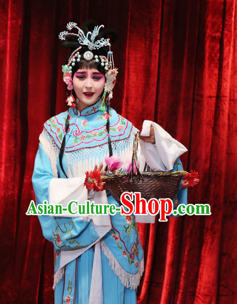 Ming Dynasty Opera Costumes Long Robe and Headwear