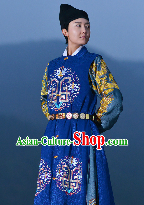 Ming Dynasty Prince Costumes and Hat Complete Set for Men