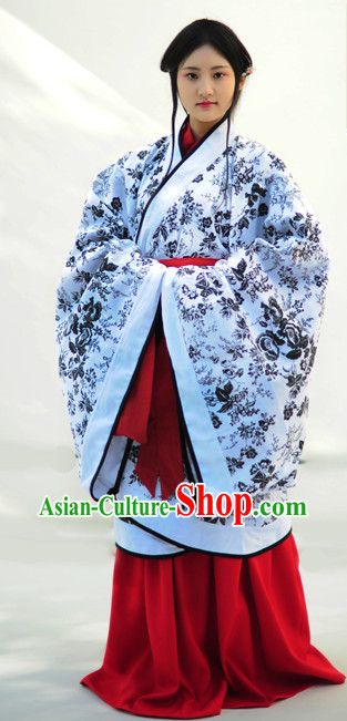 Chinese Ancient Beauty Costumes Complete Set for Women