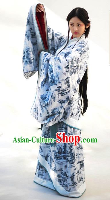Top Chinese Classical Dancing Costumes Complete Set for Women