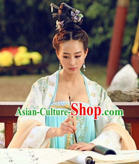 China Tang Empress Skirt Carnival Costumes Dance Costumes Traditional Costumes