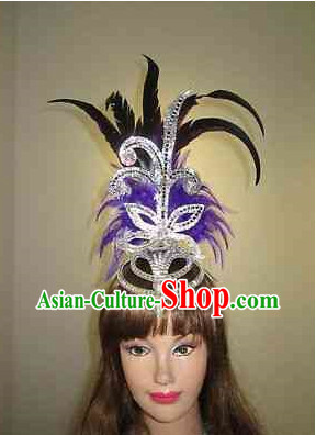 Profesional Stage Performance Feather Headwear