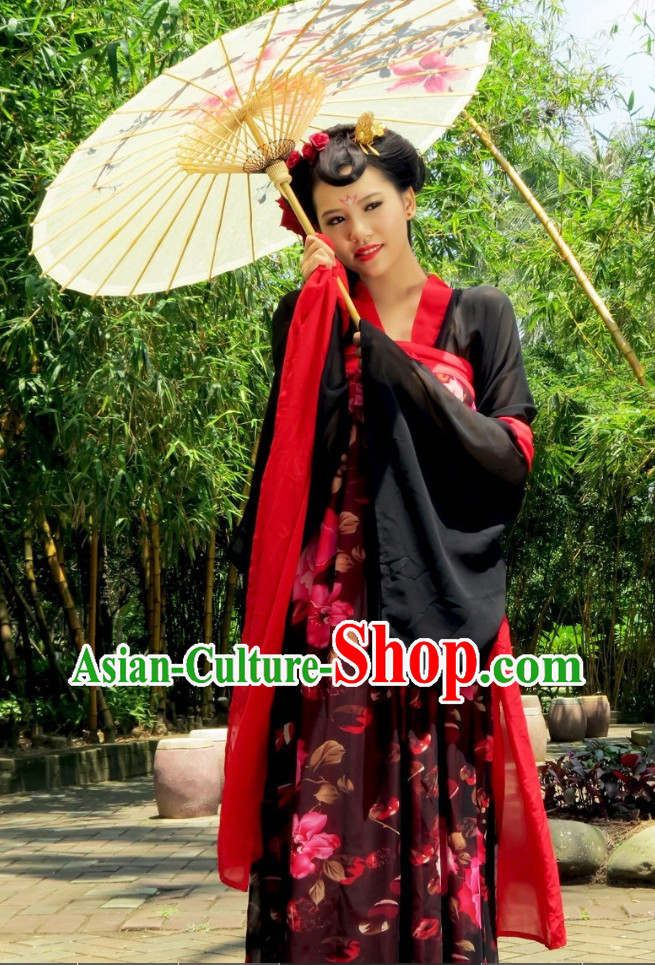 China Tang Hanfu Costumes Carnival Costumes Dance Costumes Traditional Costumes