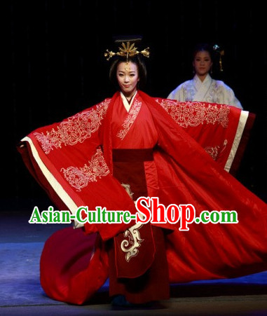 China Red Hanfu Wedding Costumes Carnival Costumes Dance Costumes Traditional Costumes for Women