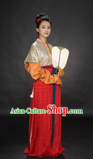 Chinese Hanfu Suit Carnival Costumes Dance Costumes Traditional Costumes for Women