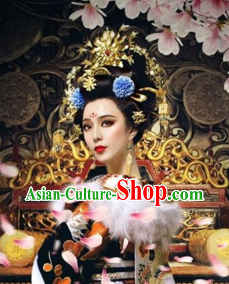 Top Handmade Empress Hair Accessories Headpieces Hair Combs Jewellery and Wig Complete Set