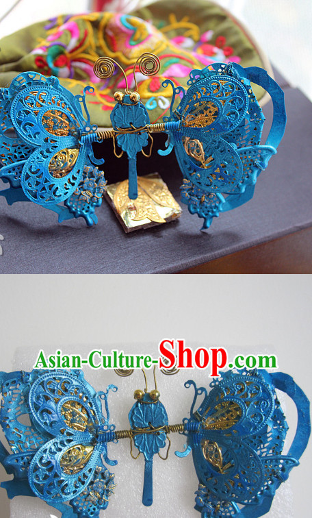 Top Asian Handmade Hair Accessories Headpieces Hair Combs Jewellery Complete Set