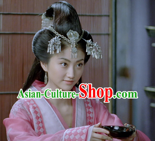 Supreme Chinese Princess Dangling Hair Fascinators Jewellery Accessories Wedding Headpieces