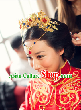 Chinese Traditional Handmade Bridal Hair Accessories Set