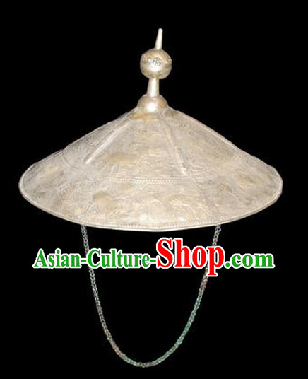 Chinese Miao Silver Hat