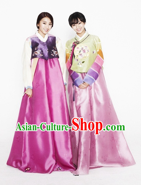 Korean Traditional Dress Asian Fashion Ladies Fashion 2 Sets