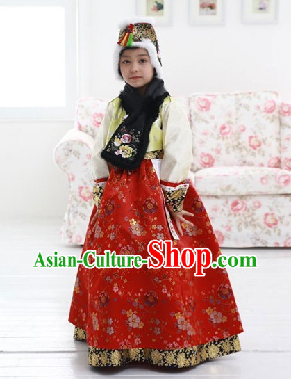 Asia Fashion Korean Costumes Apparel Outfits Clothes Dresses online for Children